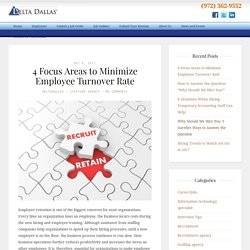 4 Focus Areas to Minimize Employee Turnover Rate