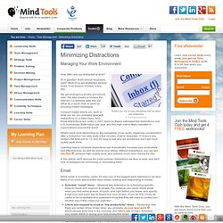 Minimizing Distractions - Online Time Management Training from MindTools