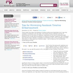 Tips for Minimizing Facebook Timeline Embarrassment | The Marketing Zen Group
