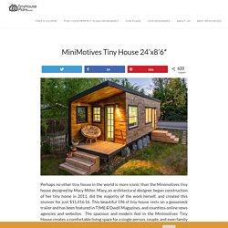 "MiniMotives Tiny House 24'x8'6"" - Tiny House Plans"