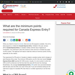 What are the minimum points required for Canada Express Entry?