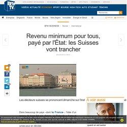 Revenu minimum pour tous, payé par l'État: les Suisses vont trancher