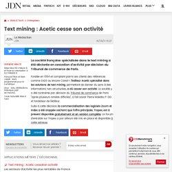 Text mining : Acetic cesse son activité