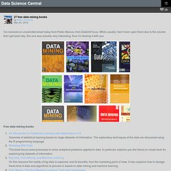 27 free data mining books – Data Science Central