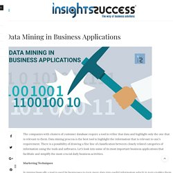 Data Mining in Business Applications