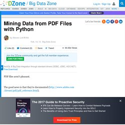 Mining Data from PDF Files with Python