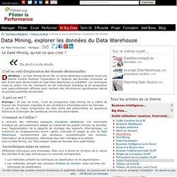 Utiliser le Data Mining pour exploiter les données du Data Warehouse