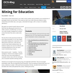 Mining for Education