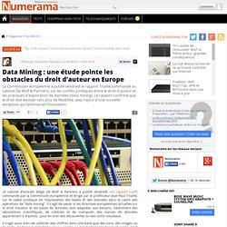 ED1 : Data Mining & droit d'auteur en Europe