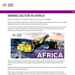 Mining sector in Africa