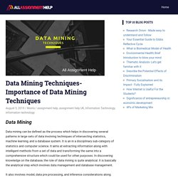 Data Mining Techniques-Importance of Data Mining Techniques