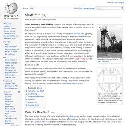Shaft mining