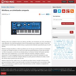 MiniNova, un sintetizador compacto