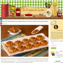 Minis St-Honorés aux speculoos et à la crèmes de speculoos -