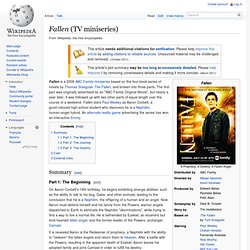 Fallen (ABC Family Miniseries) - ReGenesis