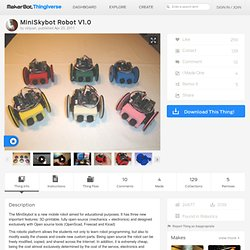 MiniSkybot Robot V1.0 by obijuan
