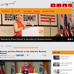 Remarks by Prime Minister at the India-U.S. Business Summit