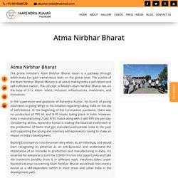 The prime minister's Atam Nirbhar Bharat vision