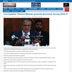Live Updates: Finance Minister presents Economic Survey 2016-17