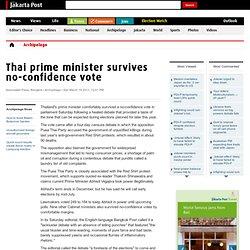 Thai prime minister survives no-confidence vote