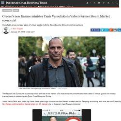 Greece's new finance minister Yanis Varoufakis is Valve's former Steam Market economist