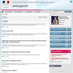 MINISTERE DE LA SANTE - Dossier diabète
