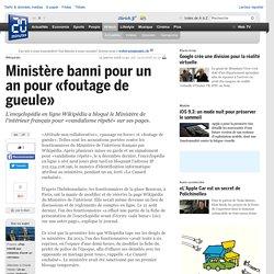 Ministère banni pour un an pour «foutage de gueule»