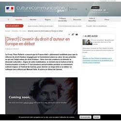 [Direct] L'avenir du droit d'auteur en Europe en débat