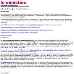 Ministère de la culture et de la communication : DDAI