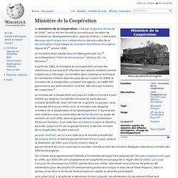 Ministère de la Coopération