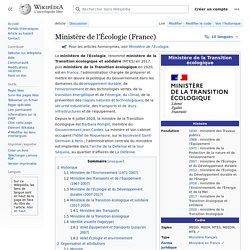 Ministère de l'Écologie (France)