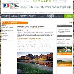 Création du premier Parc naturel européen