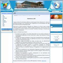 Ministère de l'Eau et de l'Energie (MINEE) / AER