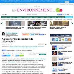A quoi sert le ministère de l'Écologie?
