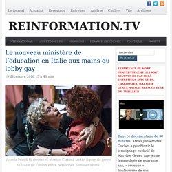 Ministère de l'éducation en Italie aux mains du lobby gay
