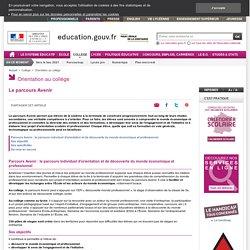 Le parcours Avenir : infographie - Education.gouv