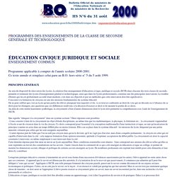 BO Hors-série N°6 du 31 août 2000 - ECJS