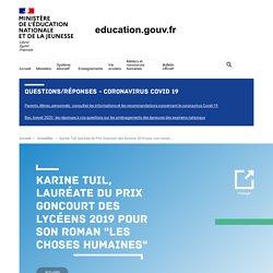 """Karine Tuil, lauréate du Prix Goncourt des lycéens 2019 pour son roman """"Les choses humaines"""""""