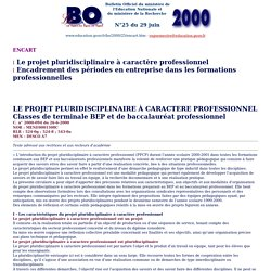 PPCP - BO N°25 du 29 juin 2000