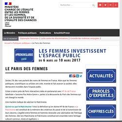 Le Paris des femmes – Ministère chargé de l'égalité entre les femmes et les hommes, de la diversité et de l'égalité des chances