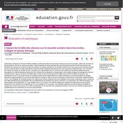 L'impact de la taille des classes sur la réussite scolaire dans les écoles, collèges et lycées français