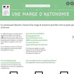 Page 7 from La réforme du collège en 10 points by Ministère de l'Éducation nationale, de l'Enseignement supérieur et de la Recherche