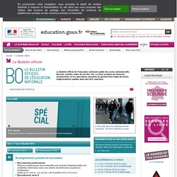 Le Bulletin officiel - Ministère de l'éducation nationale