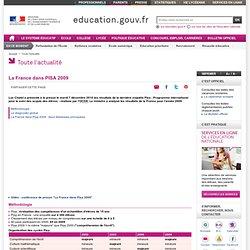 La France dans PISA 2009 - Ministère de l'éducation nationale