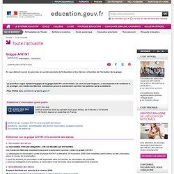MINISTERE DE L EDUCATION 17/08/09 Grippe A : un dépliant distribué à la rentrée aux parents d'élèves