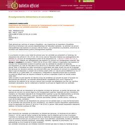 Bulletin officiel n°1 du 4 janvier 2007 - Ministère de l'éducation nationale, de l'enseignement supérieur et de la recherche.