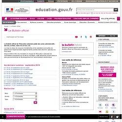 Le Bulletin officiel - Ministère de l'Éducation nationale, de l'Enseignement supérieur et de la Recherche