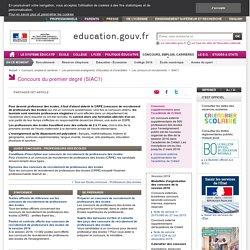 Système d'information et d'aide aux concours du premier degré (SIAC1)