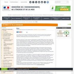 BATIMENTS et CONSTRUCTION / MINISTERE de l'ENVIRONNEMENT de l'ENERGIE et de la MER