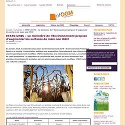 ETATS-UNIS – Le ministère de l'Environnement propose d'augmenter les surfaces